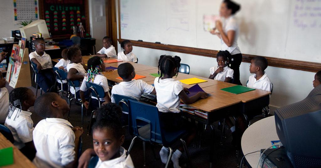 Alain Locke Charter School classroom