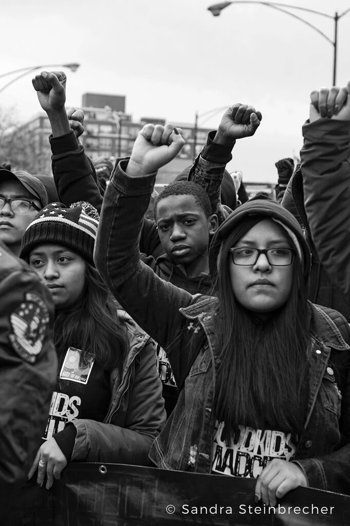 'Frontline, March for Our Lives, Chicago,' by Sandra Steinbrecher